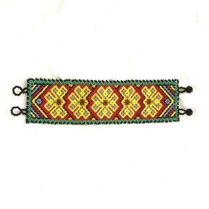 Native America Style Cuff Bead Bracelet,
